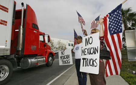 US-Mexico free trade on lorry transportation