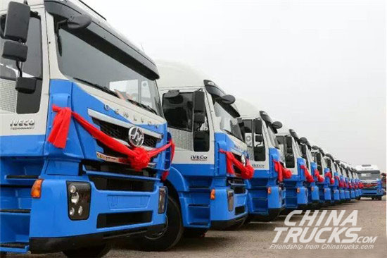 SAIC Hongyan Delivers 50 Genlyon Car Transporter Trucks