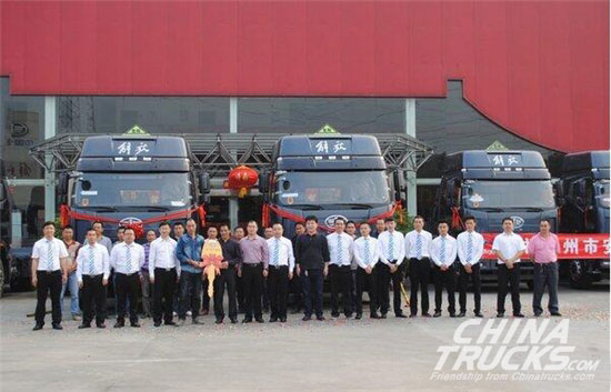 10 Jiefang J6P Delivered to Guangzhou Logistics