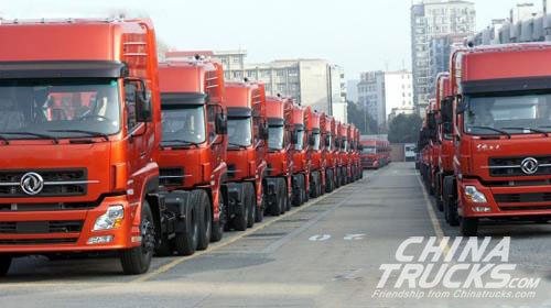 Dongfeng Daily Production Reached 600 Trucks in the First Work Day