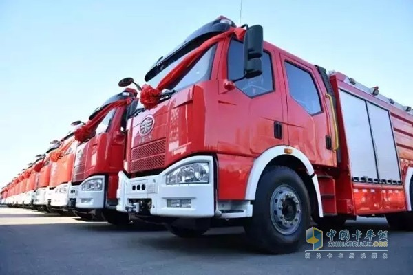 131 FAW Jiefang Fire Trucks to Support Fire Career Construction in Tibet and Xin