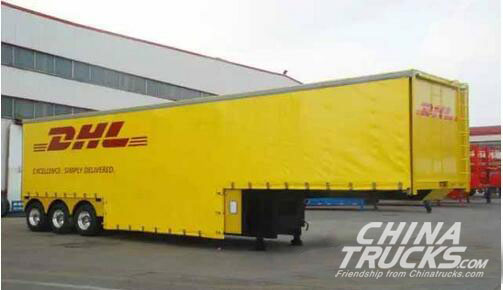 CIMC Van Semi Trailers Exported to Thailand in CKD Mode