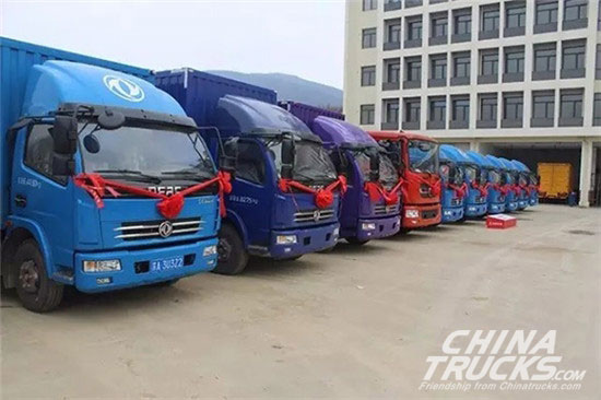 500 Dongfeng V5 Light Trucks Delivered to Nanjing Kaseao