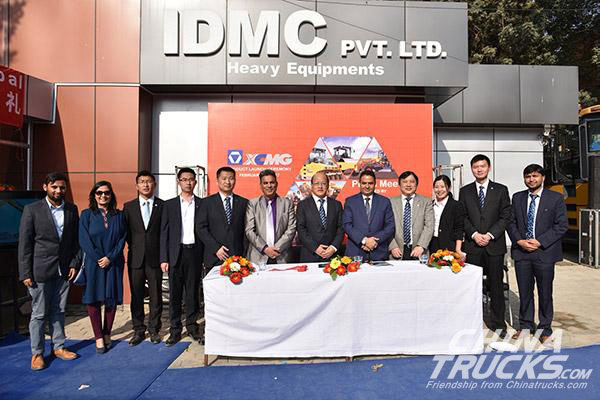 XCMG's New 4S Store Grandly Opens in Nepal - China Truck
