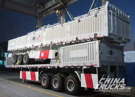 CIMC TONGHUA Deliver Export Semi-trailers to Parkistan