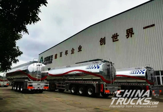 Sinotruck Liuzhou Yunli Delivers First 5 Units of Oil Tankers to Saudi Arabia