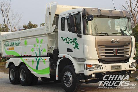C&C U platform 6x4 tipper truck(LNG)+Yuchai Power+FAST Gearbox