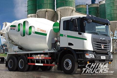 C&C U platform 6x4 mixer truck (LNG)
