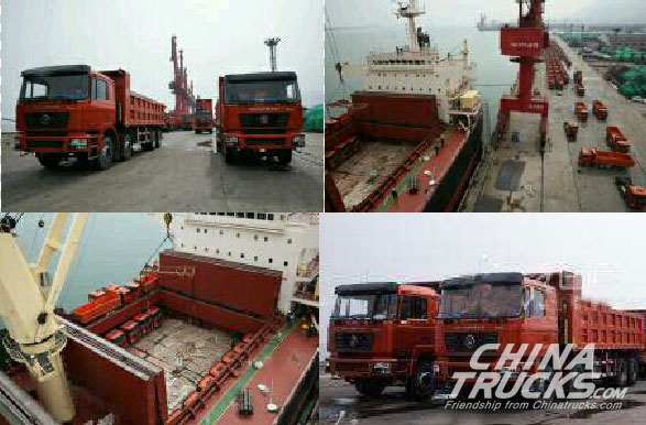 142 SHACMAN Dumpers Exported to Nigeria