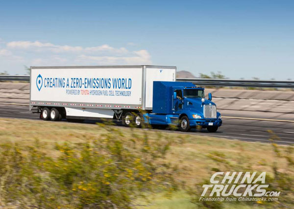 Toyota puts fuel-cell semi truck to test at Los Angeles port