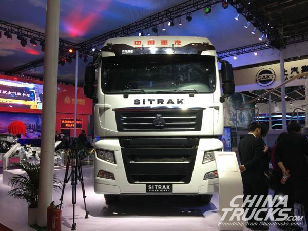 auto shanghai 2017  sinotruk debuts sitrak and howo trucks