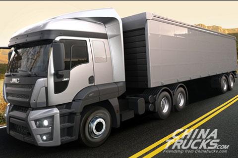 JMC Heavy-duty Truck Weilong+FORD Engine+FAST Transmission