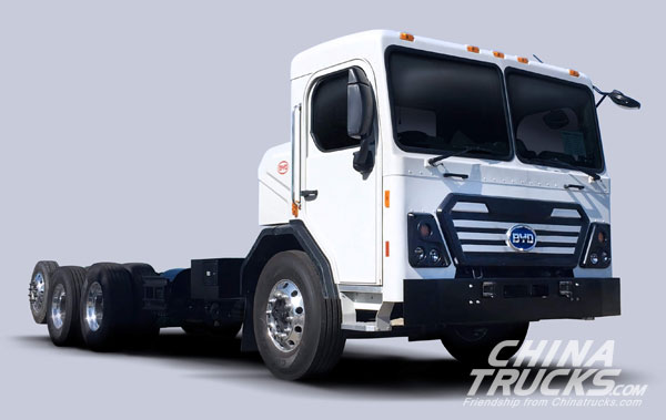 BYD Unveils Class 8 Battery-Electric Refuse Truck at 2017 ACT Expo
