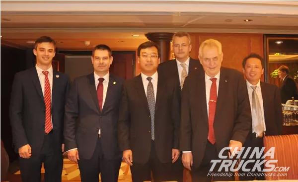 Czech President Meets with Linglong Chairman