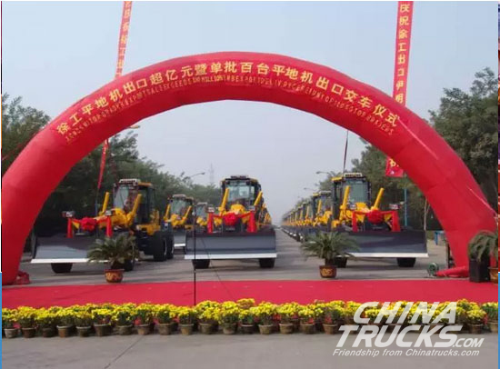 100 XCMG Road Rollers are Exported to North America in Batches