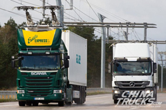 Siemens Builds eHighway in Germany to Charge Electric Trucks