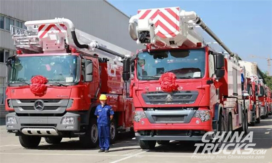XCMG and Its 11 New Industrial-leading Fire Trucks Appear at China Fire 2017