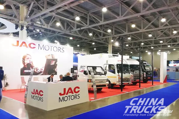 JAC Put Four Light-duty Trucks on Display at Russia International Commercial Veh