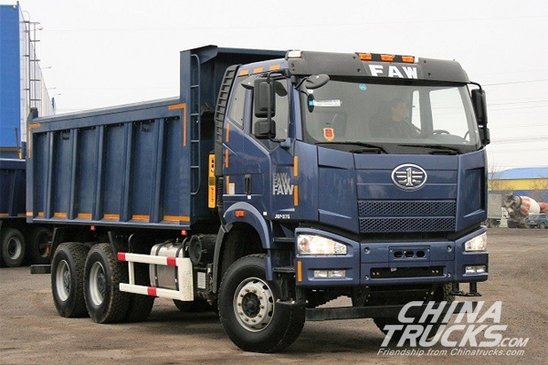 FAW Jiefang Presents Two Updated Dump Trucks on Russian COMTRANS 2017