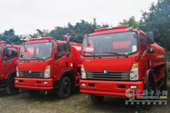 Sinotruk CDW's Fire Trucks Exported to Myanmar Pass the Final Inspection