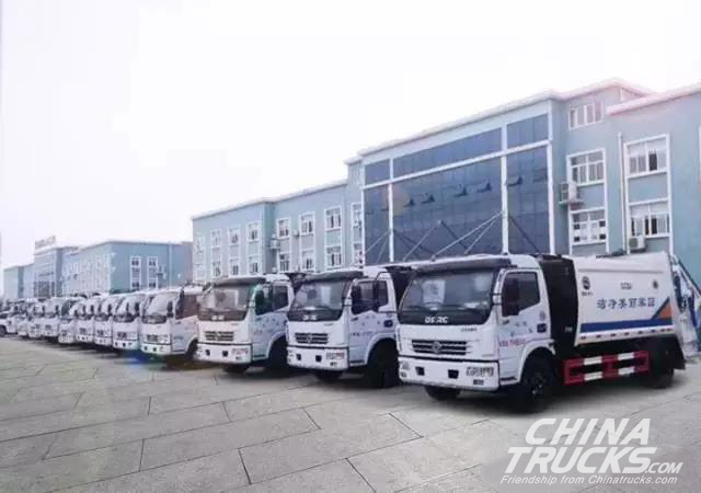 23 Units Dongfeng Light-duty Trucks Started Operation in Hunan