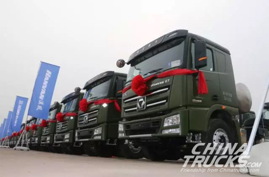 XCMG Delivers 300 HANVAN Heavy-duty Trucks and Receives Another Orders for 600