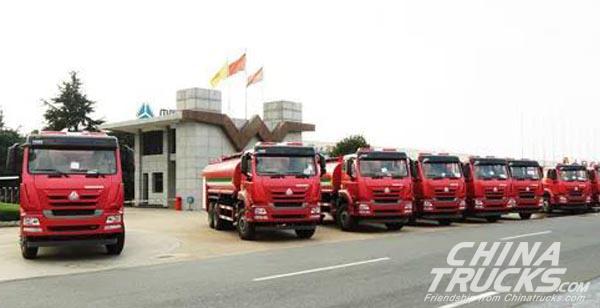 50 Units Sinotruk Heavy-duty Trucks Shipped to Ethiopia for Operation