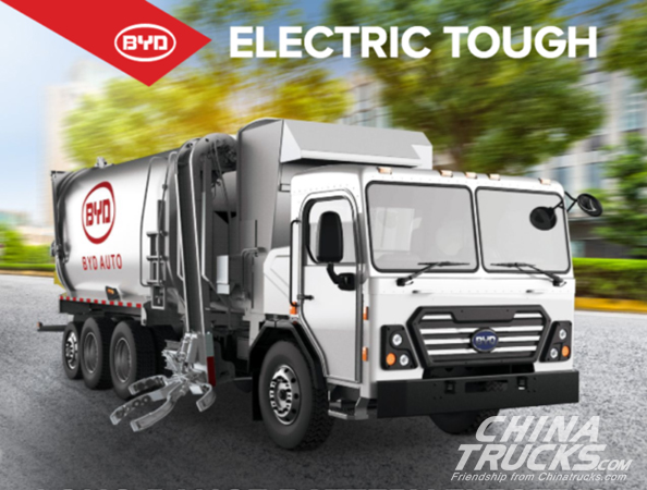 BYD Delivers 1st All-Electric Automated Side-Loader Garbage Truck To City Of Pal