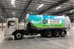 BYD Delivers 1st All-Electric Automated Side-Loader Garbage Truck to Palo Alto