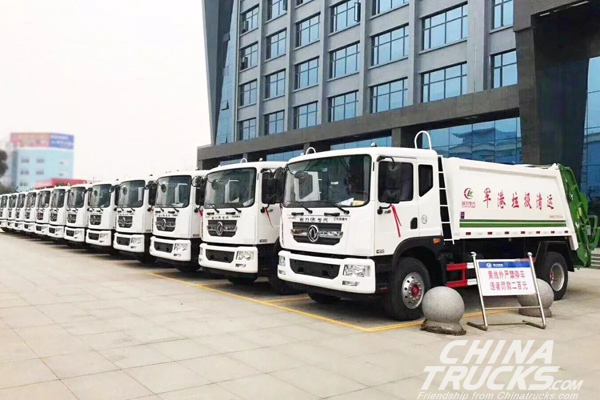 Dongfeng Light Trucks Delivered to Promote a Military Port Construction