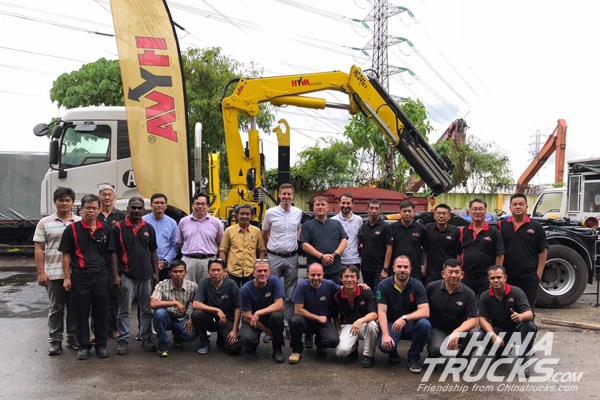 Technical Hyva Crane training in Malaysia