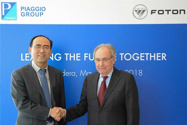 Foton Motor and Piaggio Group of Italy Team up for New Range of LCVs