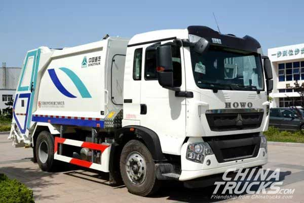 CNHTC Compression Type Garbage Trucks Delivered to Qingdao for Operation