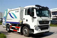 CNHTC Compression Type Garbage Trucks Delivered for Service at SCO Summit