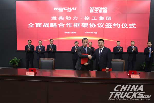 XCMG Deepens Partnership with Weichai Power