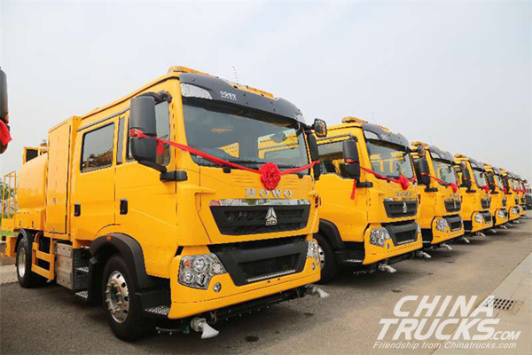 CNHTC Delivers 28 Units Trucks to Hong Kong
