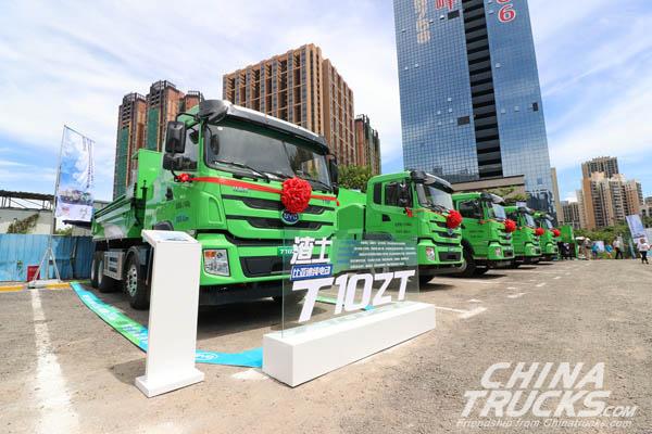 BYD Electric Intelligent Dumping Trucks Start Operation in Shenzhen