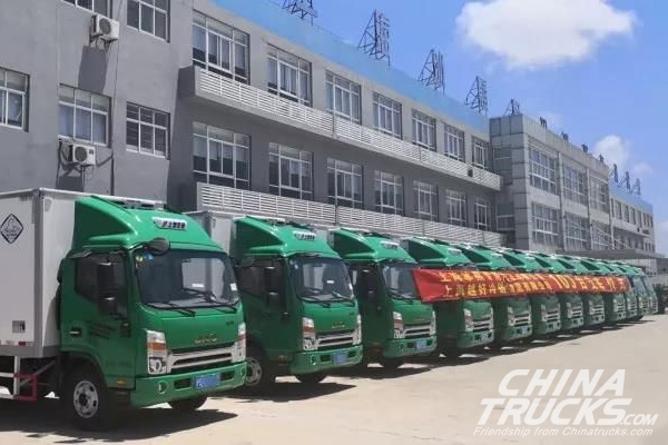 100 JAC Shualing Refragerator Trucks Delivered to Customer in Shanghai
