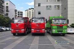 FAW Jiefang J6P Dumping Trucks Set Splashes in Chongqing