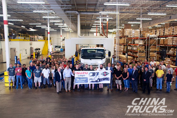 The 50,000th Isuzu N-Series Truck Rolls off Line in America