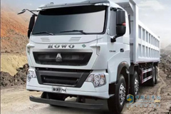 HOWO-T7H 8×4 LNG Dumping Truck Sets a New Example of Environmental Friendliness