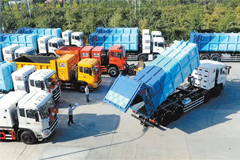 47 Units Dongfeng LNG Sanitation Trucks to Arrive in Xinjiang for Operation