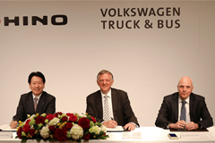 VW's Traton Announces JV for Electrified Trucks with Hino