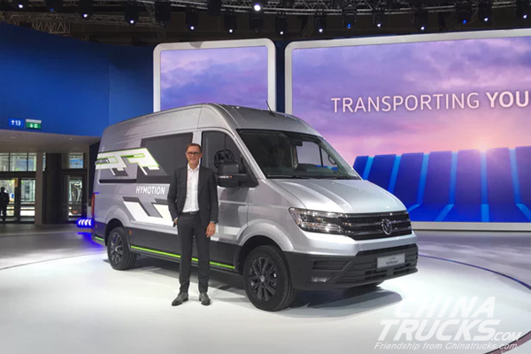 IAA 2018: VW Unveils Hydrogen-powered Crafter HyMotion Van Concept