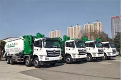 Foton Delivers Auman Suction Sewage Trucks to Shougang Group for Operation