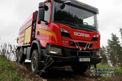 Scania Delivers Its XT P 370 6×6 Tanker to Fight Forest Fires in Sweden