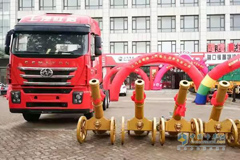 SAIC Hongyan Genlyon Trucks Delivered to Yingkou for Operation