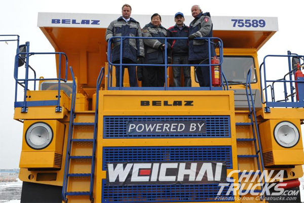 Weichai Group Tests Drive on a 90t BELAZ Mining Truck