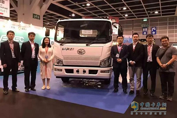 FAW Jiefang Electric Truck Starts Commercial Operation in Hong Kong