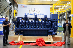 MTU Yuchai Anteyou Rolls off the 100th High-end High-power Engine